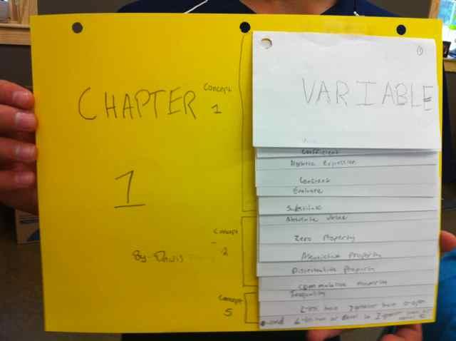 Index Card Flip Charts I Speak Math