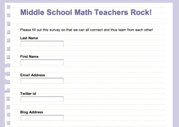 calling all middle school math teachers please fill out my survey