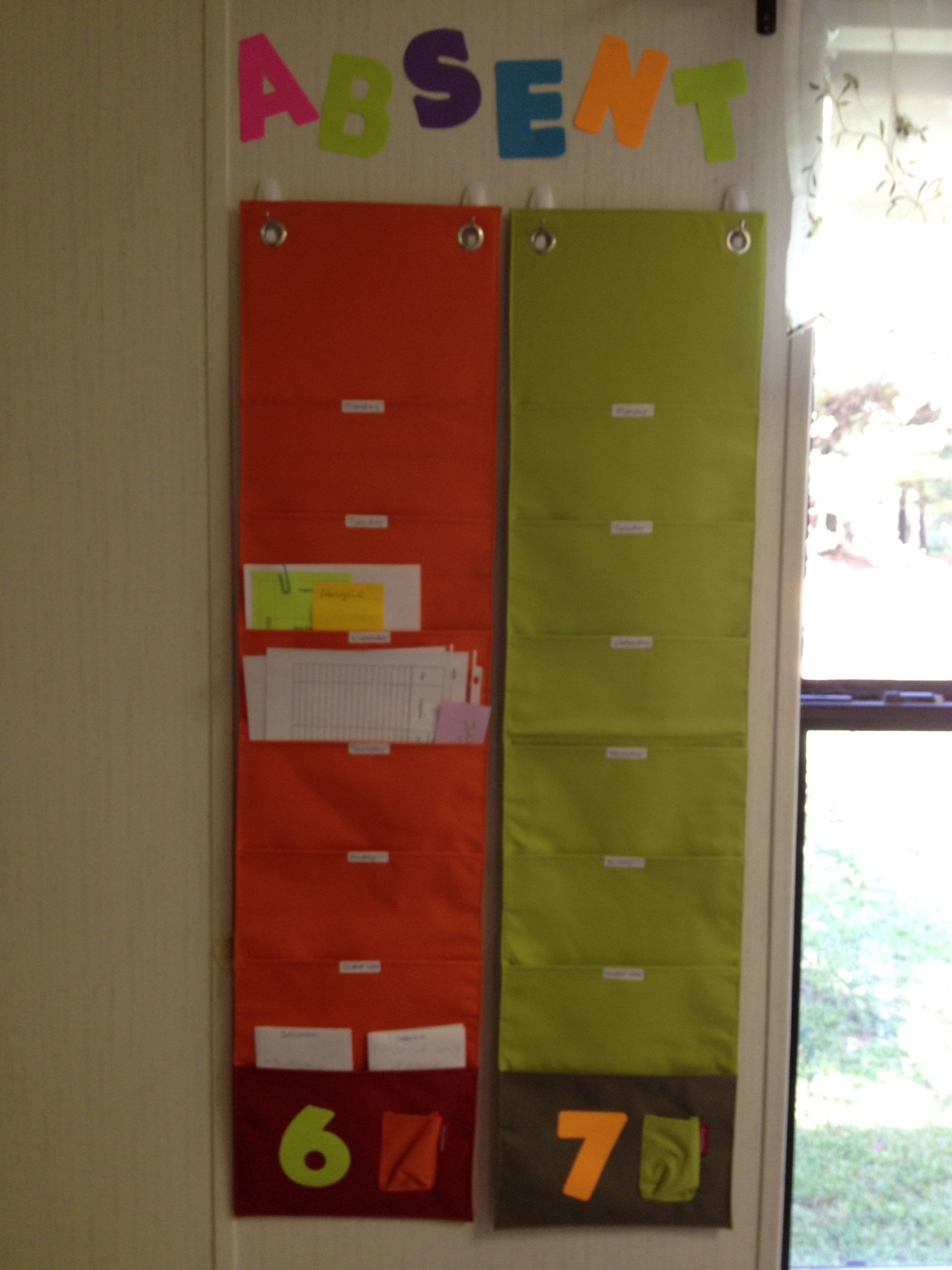 Hanging Wall Organizers For Absent Work I Speak Math