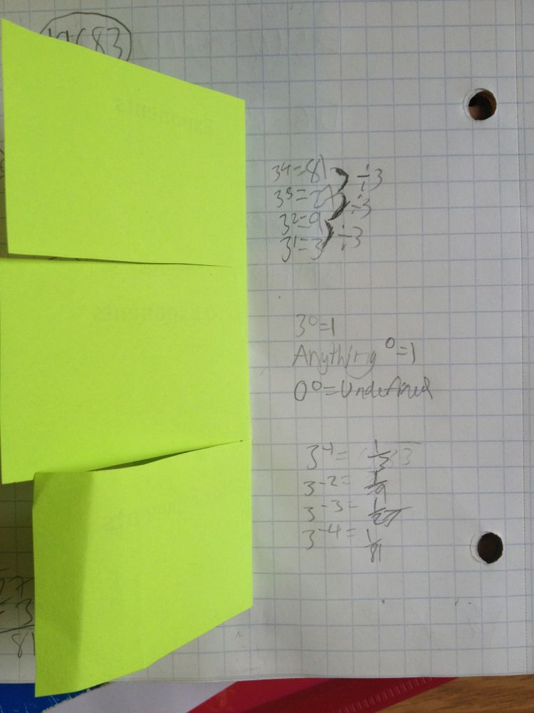 Foldables - Place Value, Exponents, and Scientific Notation (4/6)