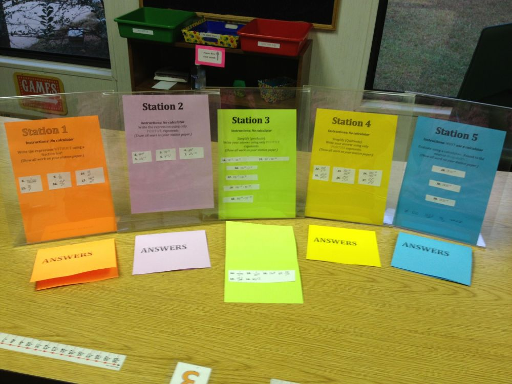 Quick and Easy Math Stations (aka - Pimp Your Worksheet) (1/3)