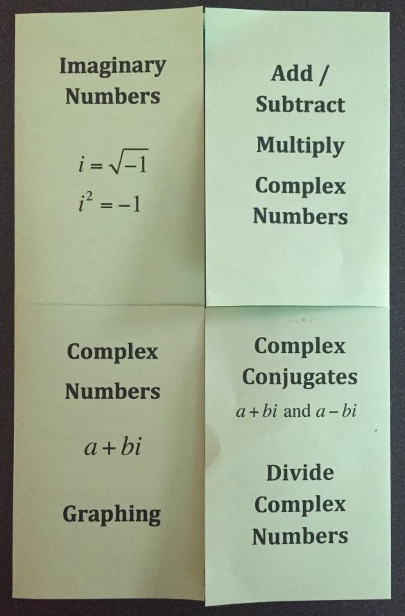 Foldables I Speak Math